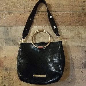 Gianni Bini Black Purse with Gold Handles